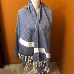 Trina Turk blanket shawl.